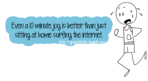 10 minute jog