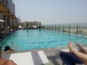 The pool at the Radisson Royal