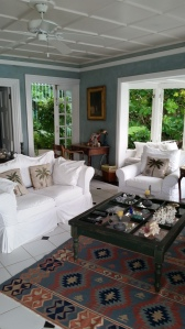 The upstairs living room
