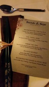 Dining with Lex - menu