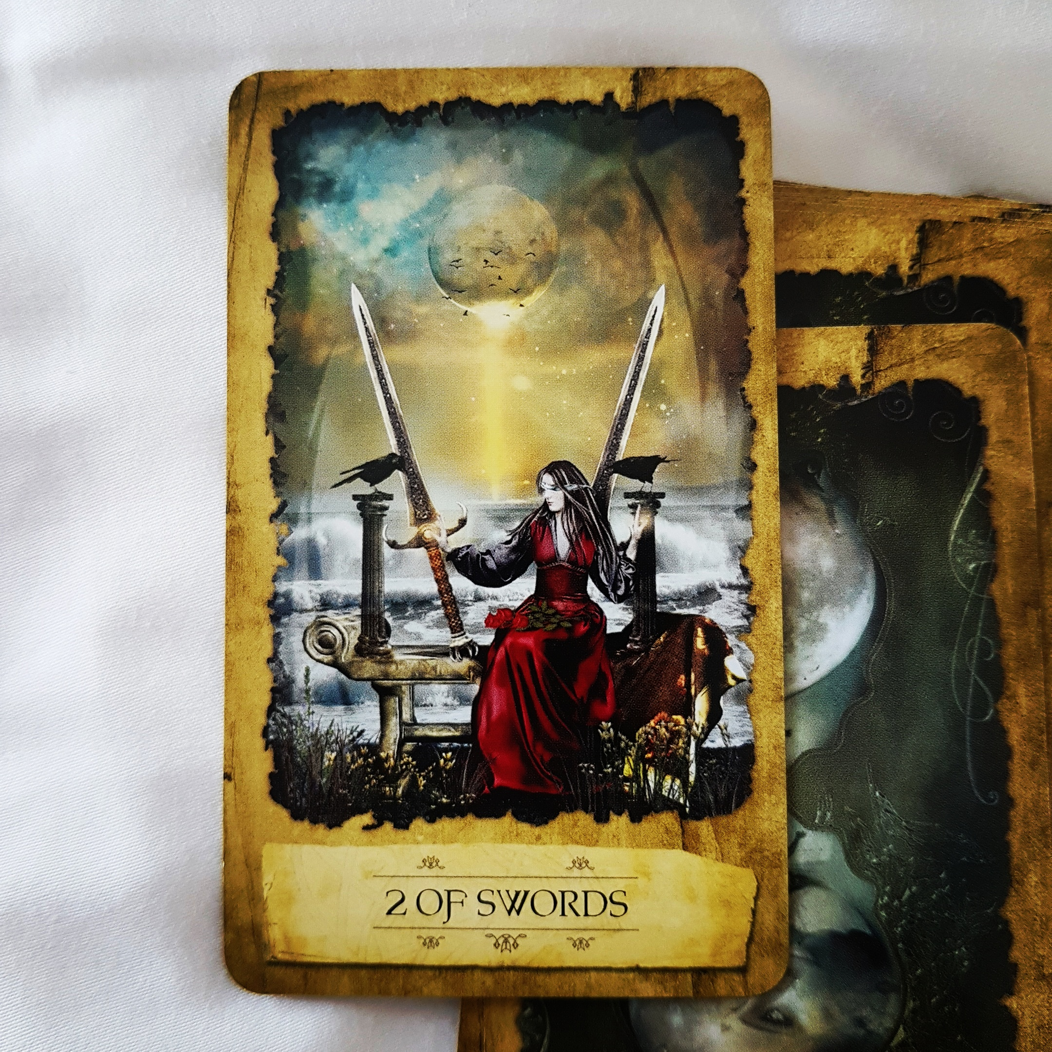2 Of Swords Blocking Emotions Denying True Feelings Hiding Distress Maintaining Your Cool Avoiding The Truth Refusing To Look At Facts